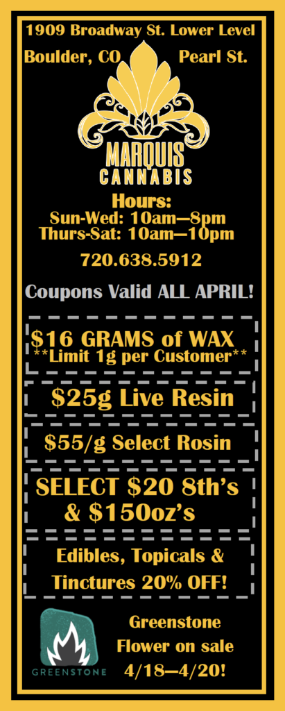 4/20 Cannabis Specials and Deals Boulder, CO